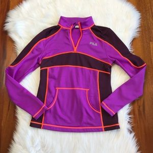 {Fila} Bright Pink Workout Pullover